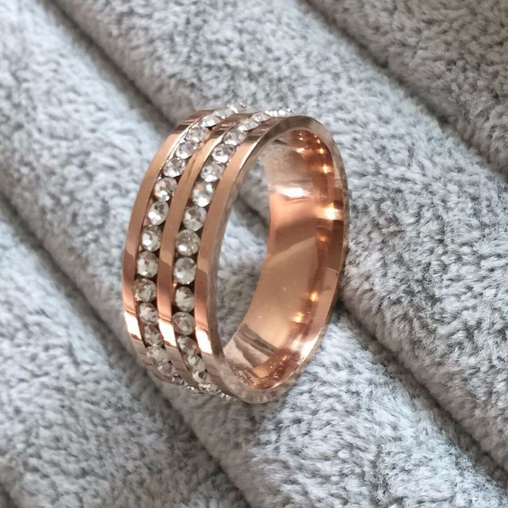 Famous Brand Luxury rose gold Plated CZ diamond Champagne rings Top Classic Design Wedding lovers Ring for Women and Men