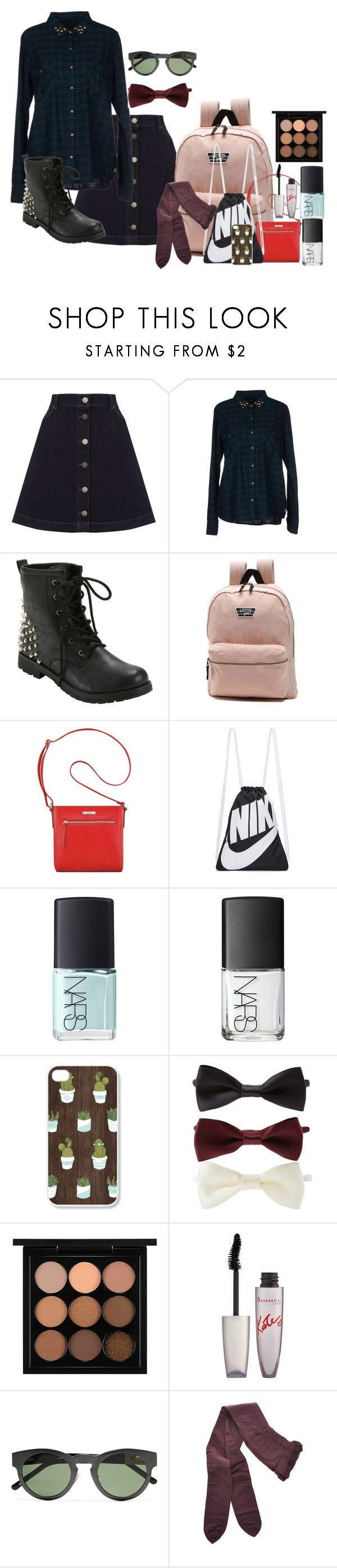 """""""Sammi McCall 2x6"""" by samtiritilli666lol ❤ liked on Polyvore featuring Oasis, Maison Scotch, Hot Topic, Vans, Nine West, NIKE, NARS Cosmetics, Forever 21, Rimmel and 3.1 Phillip Lim"""