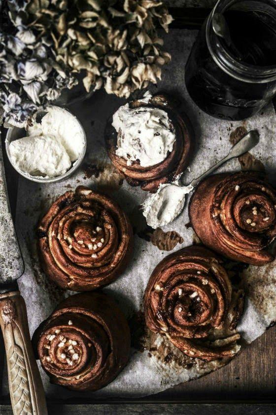 pretzel cinnamon rolls by izy hossacks from top with cinnamon.
