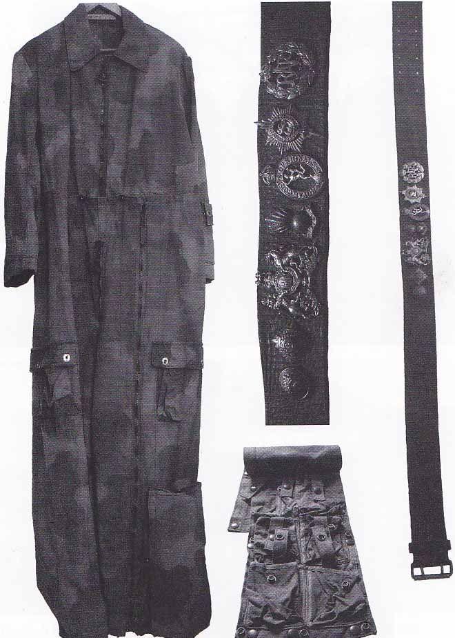 Jump suit, belt, & bag used by Jiři Potuček of Operation Silver A.