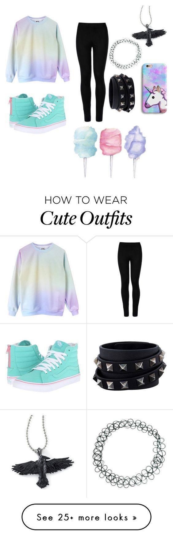 """""""Pastel outfit"""" by rubytayl0r on Polyvore featuring Wolford, Vans, ASOS and Valentino"""