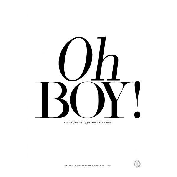 Plakat Oh Boy 100x70 Words Boys Aes