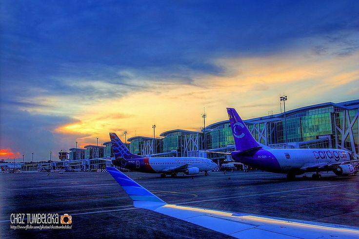Sunset - Sepinggan International Airport Balikpapan - East Borneo
