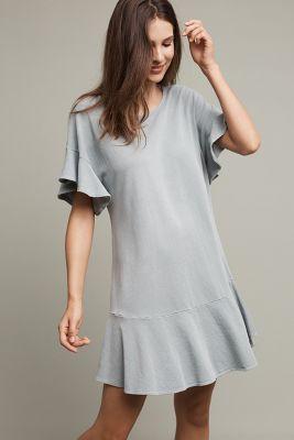 Odette Ruffle Sleeve Dress