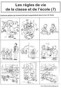 Langage autour des règles de vie de la classe