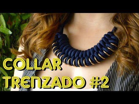 COMO HACER UN COLLAR TRENZADO - PARACORD NECKLACE - YouTube