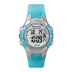 Marathon by Timex® Womens Blue Resin Strap Digital Watch T5K817M6