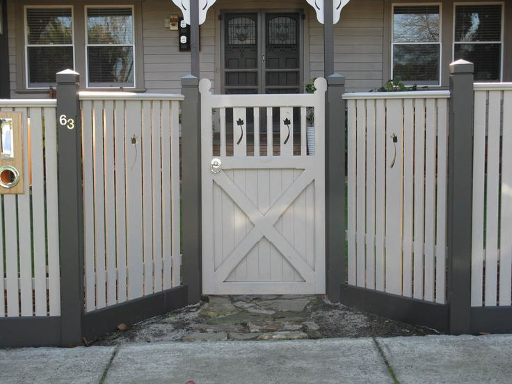 picket fence design | Capped Pickets with Feature Panels & Gate