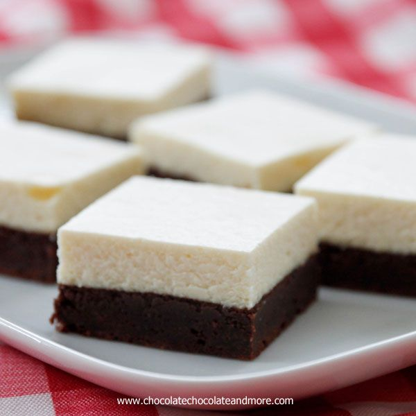 ... chocolate and more mehr cheese cake fudgy brownie bake cheesecakes 3