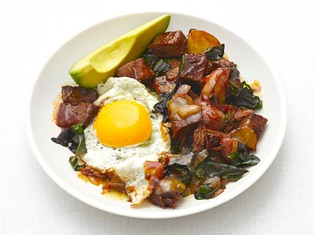 Southwestern Brisket Hash from FoodNetwork.com- leftover recipe from Slow-Cooker Barbecue Brisket