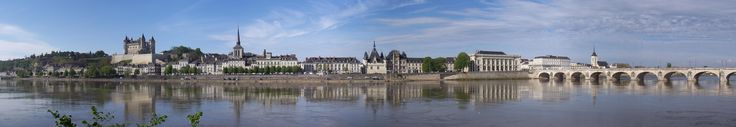 Saumur France on the river Loire. A panorama. #travel #photography #nature #photo #vacation #photooftheday #adventure #landscape