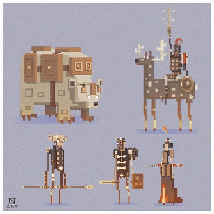 Detailed pixel art