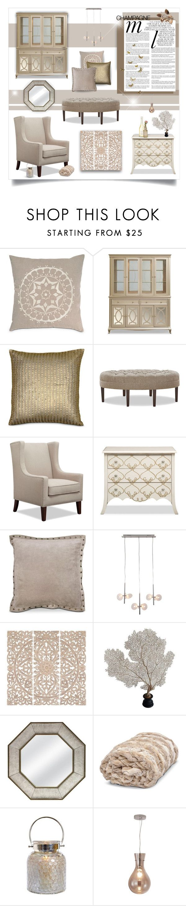 Champagne Shade by amsigfurniture on Polyvore featuring interior, interiors, interior design, home, home decor, interior decorating, Home Decorators Collection, Cultural Intrigue, Whiteley and Color