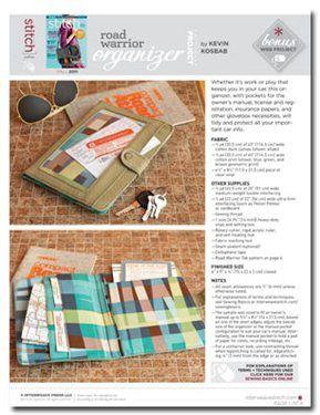 Free Sewing Pattern: Road Warrior Organizer - Media - Sew Daily