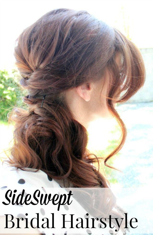 simple, elegant bridal hairstyle video tutorial