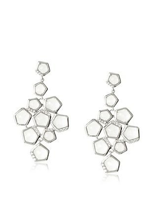 Riccova Clear Faceted Crystal Chandelier Earrings