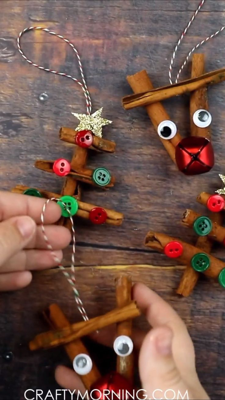 Cinnamon Stick Ornaments Reindeer And Christmas Tree Ornaments