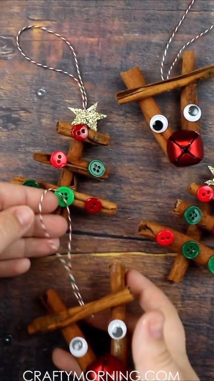 Cinnamon Stick Ornaments Reindeer And Christmas Tree Ornaments