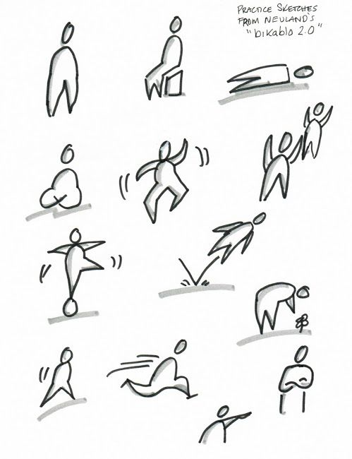 Easy and quick sketches of people moving around.