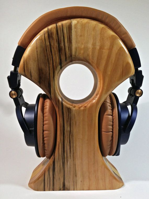 Reclaimed Cedar Wood Headphone Stand Handcrafted in Ireland
