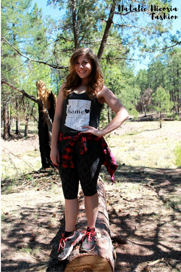 Camping Clothes Women's Fashion Outdoors Gear Hiking Outfit Natalie Nicosia Blog Hiking Fashion Blog Arizona Fashion optoutside how to dress in the forest Trail Fashion