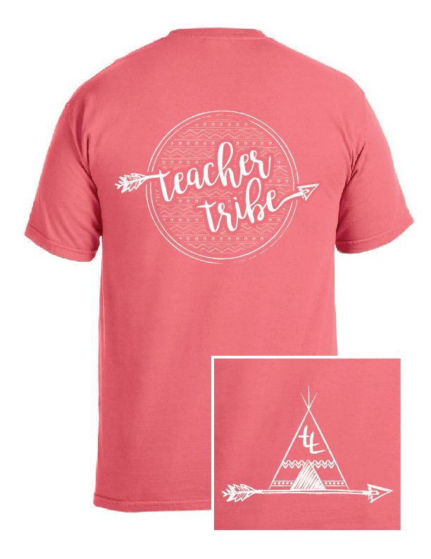 Teacher Tribe Teepee T-Shirt -Aztec Back- Teacher shirts, team shirts, grade level shirts, staff shirts, comfort colors