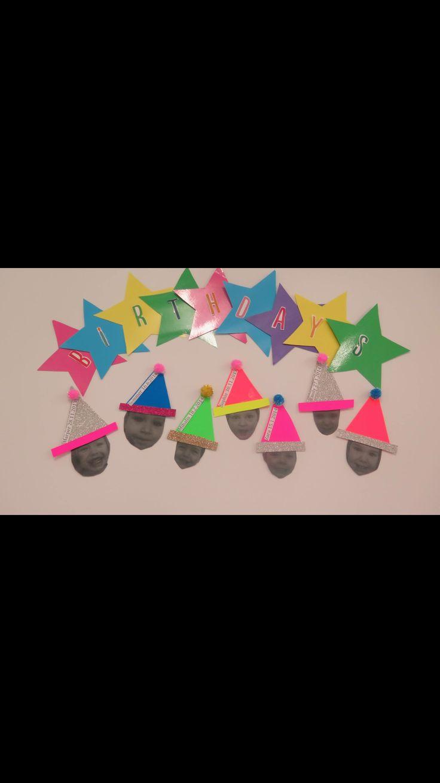 Childcare birthday display