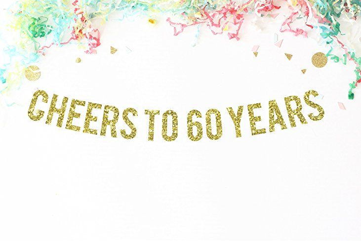 Cheers To 60 Years Banner | 60th birthday party | 60 anniversary | 60 | sixty | 60 years old | party banner | party decor