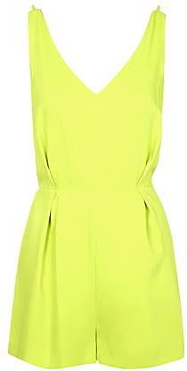 Womens lime playsuit from Topshop - £48 at ClothingByColour.com