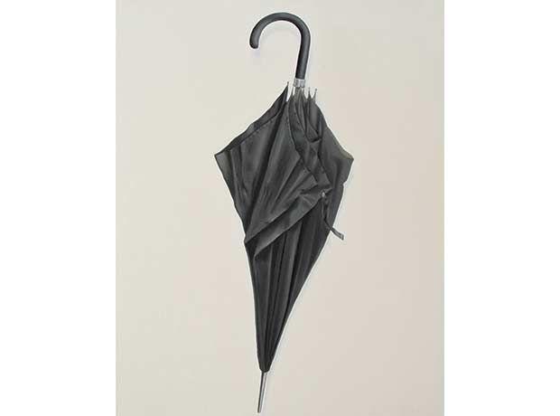 Paraguas negro (Óleo sobre tela)