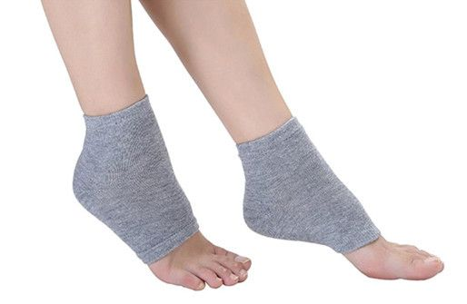Spa Sleeve socks heel moisturized gel socks, Perforated breathable silicone Sock heel crack protective sleeve Summer style