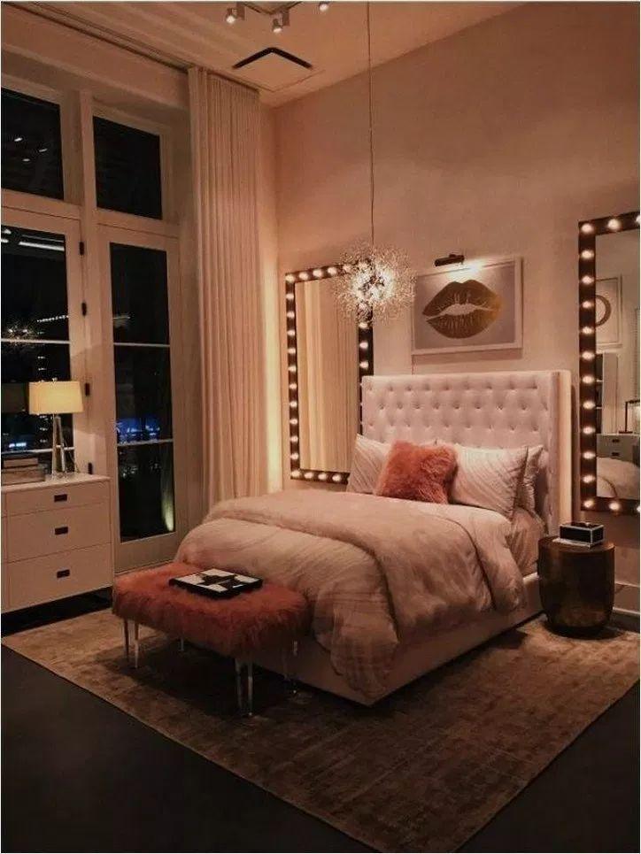 37+ Elegant White Master Bedroom & Blush Decorativ…