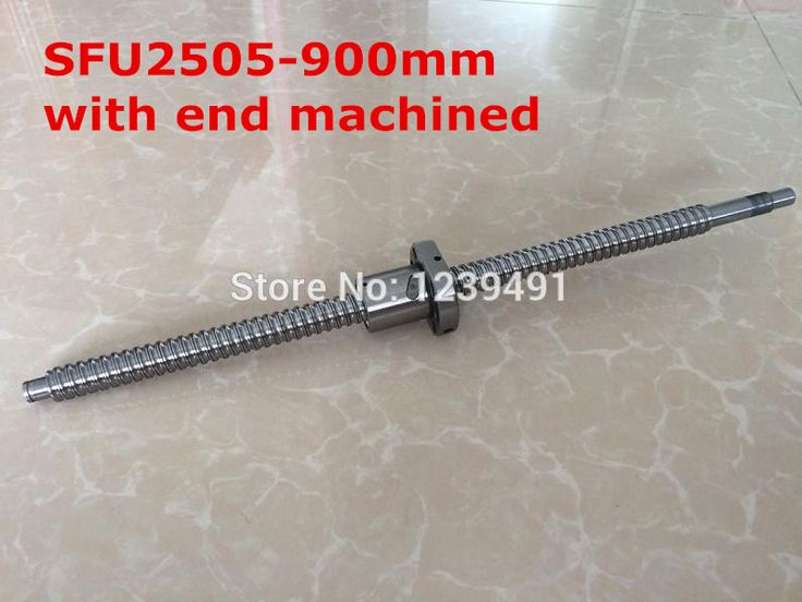 1pc SFU2505- 900mm  ball screw with nut according to  BK20/BF20 end machined CNC parts