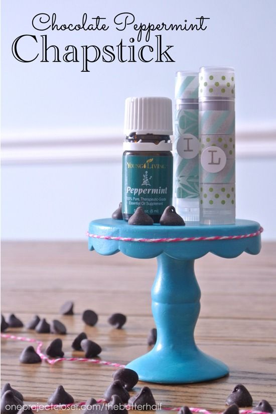 DIY Chocolate Peppermint Chapstick using young living essential oils!