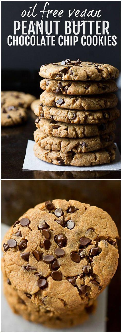 Oil Free Vegan Peanut Butter Chocolate Chip Cookie…
