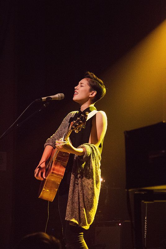 Kina Grannis, gray on black February 17th, 2015 at the Bluebird Theater in Denver, CO. Taken by Aimee Giese.