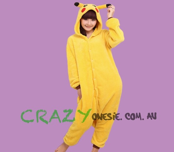 Pikachu Onesie. 25% off EVERYTHING in store. Free Express Delivery Australia-wide. Visit www.crazyonesie.com.au for more details. Visit our Facebook page https://www.facebook.com/crazyonesie for exclusive competitions and discounts