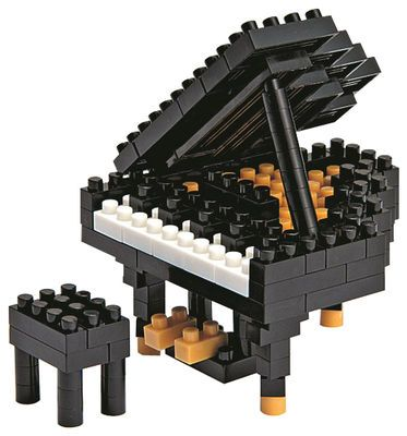 Jeu de construction Nanoblock Mini / Piano à queue Piano à queue - Mark's