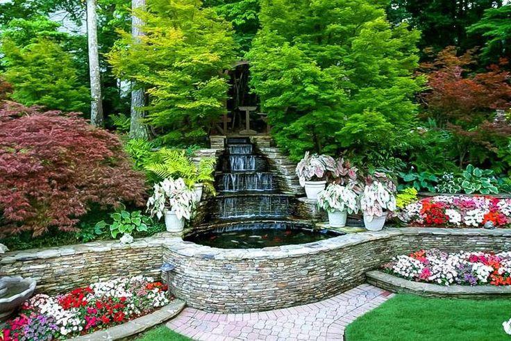 Beautiful koi pond Waterfalls backyard, Relaxing