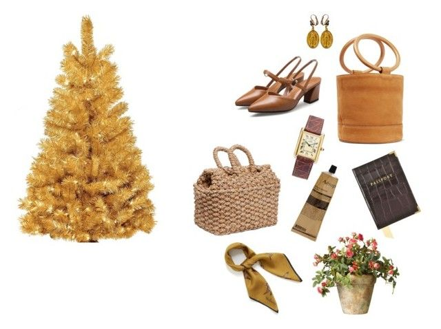 """""""Christmas gift ideas-Brown/gold/tan(ish)theme"""" by leeforlife ❤ liked on Polyvore featuring Dolce&Gabbana, Simon Miller, Aspinal of London, Aesop, Pigeon & Poodle, Mulberry and OKA"""