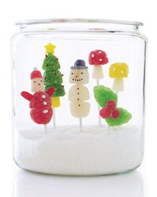 """How to make these gumdrop goodies for the holidays.  In a cookie jar filled with """"snow"""", they make an edible centerpiece; in cellophane bags tied off with ribbon they make a cute gift attachment or stocking stuffer."""