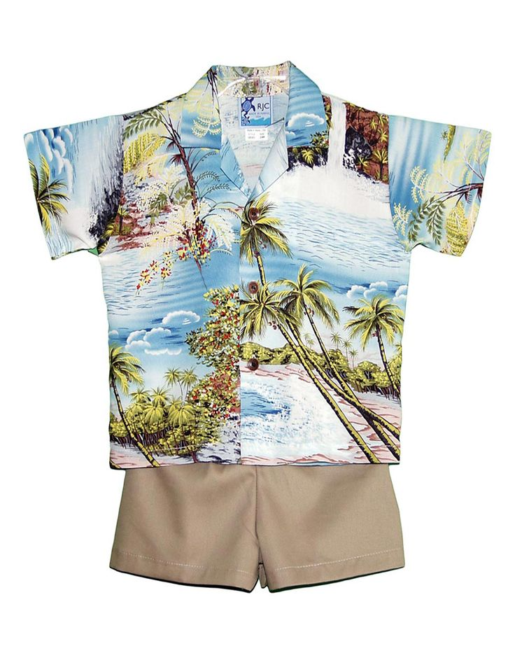 Check out the deal on Hana Hou Boy's 2 Piece Hawaiian Rayon Cabana Set at Shaka Time Hawaii Clothing Store