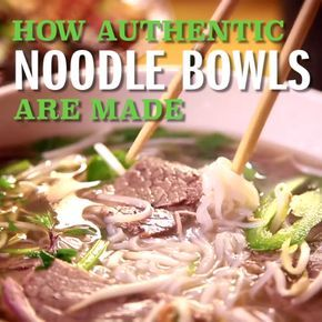 Guy visits a Vietnamese restaurant to sample their Authentic Asian Noodle Bowl noodle bowl, Pho.