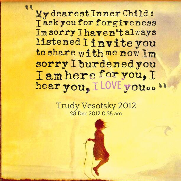 My dearest inner child ❤️                                                                                                                                                                                 More