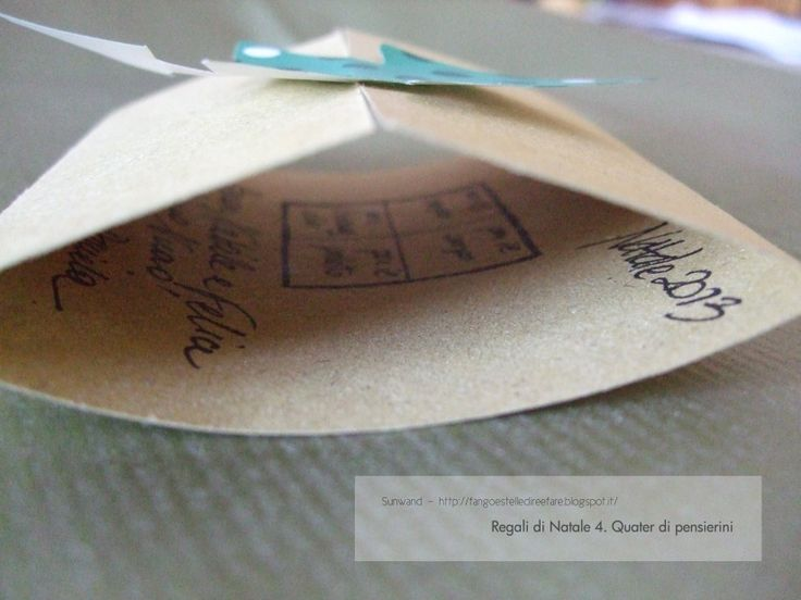 Quater di pensierini-bigliettino  #biglietto #handmade