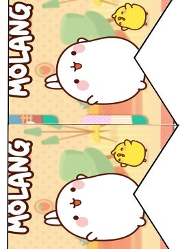 FREE Molang Birthday Party printable cupcake topper, banner and water bottle label files