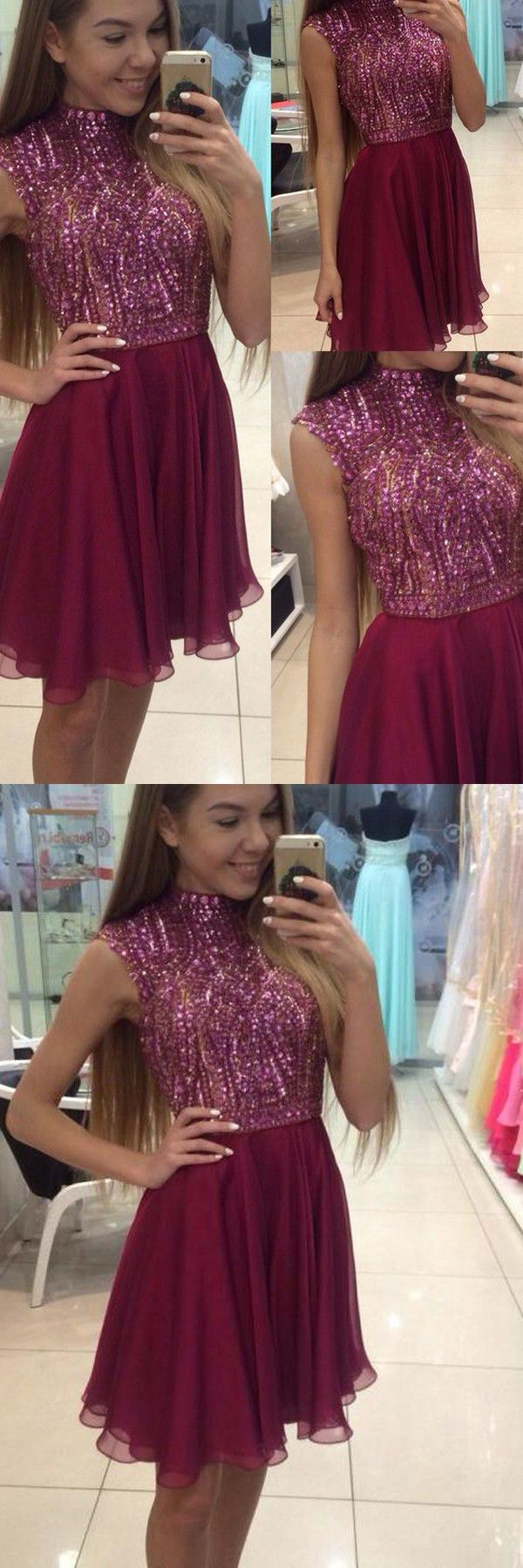 2016 homecoming dresses,homecoming dresses,sparkle homecoming dresses,halter homecoming dresses,sparkle prom dresses,maroon homecoming dresses