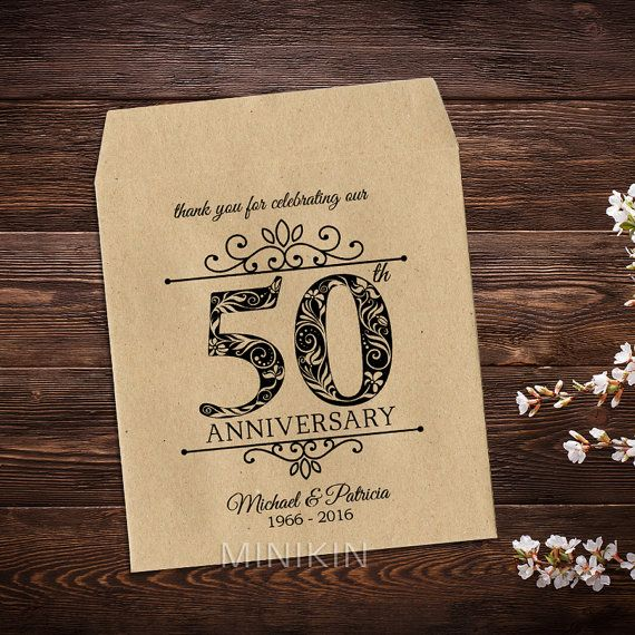 50th Wedding Anniversary, Seed Packet Favors, Anniversary Gifts, Golden Anniversary, Rustic Anniversary, 50 Years, Thank you Favors x 25