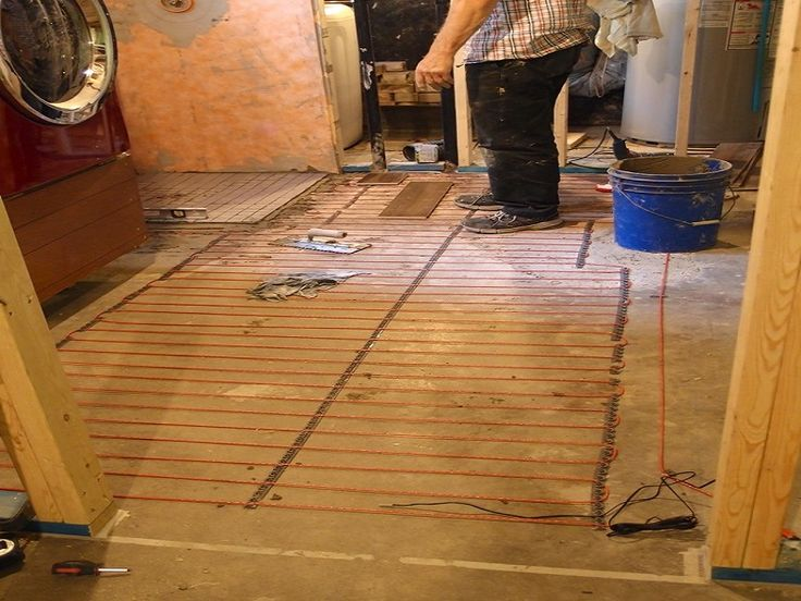 Basement Heated Tile Floor ~ http://lanewstalk.com/the-heated-tile-floor-project-preparation/
