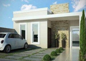 fachadas de casas simples y modernas 2